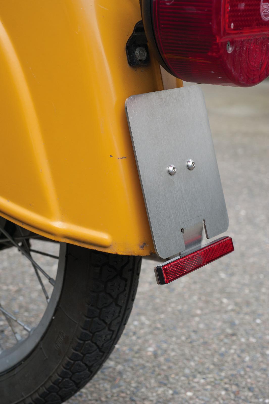 Mofa Moped Roller Kennzeichenhalter Nummernschildhalter Aluminium